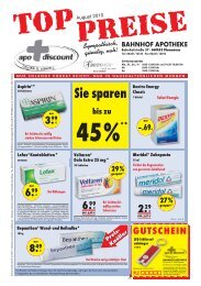 Angebote August 2010 - Apo-Discount