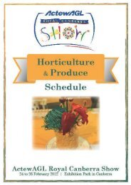 horticulture produce - Royal National Capital Agricultural Society