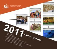 2011 Annual Report - Royal National Capital Agricultural Society