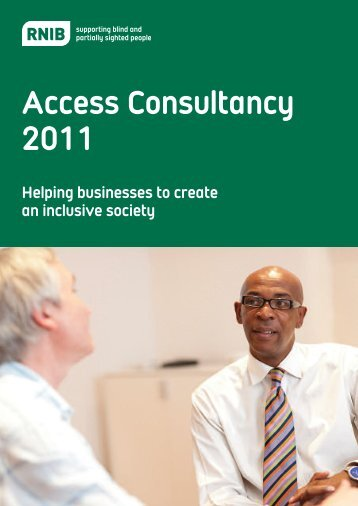 Access consultancy brochure - RNIB