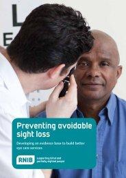 Preventing avoidable sight loss - RNIB