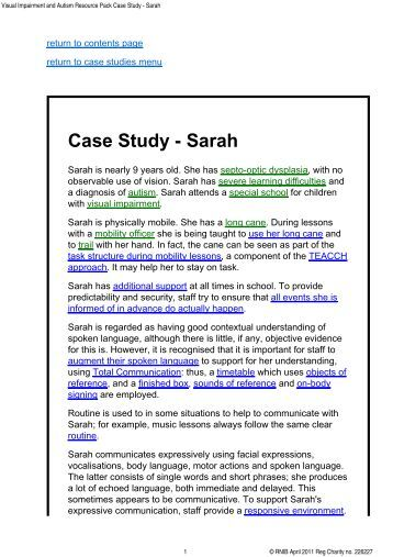 case study sarah I first moved to the pacific northwest in the early 1980s to attend national college of natural medicine, portland, oregon, and found a wooded rural home with a large.