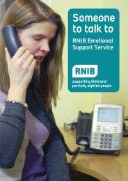 Emotional Support Service leaflet (PDF, 172Kb) - RNIB