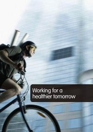 Working for a healthier tomorrow - Welfare Reform impact ...