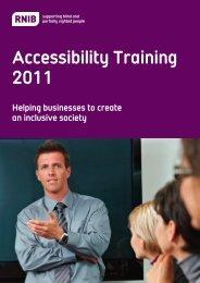 Accessibility training brochure - RNIB