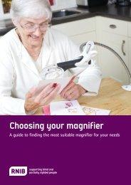 Magnification guide (PDF, 1.7mb) - RNIB