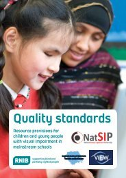 Resource provisions for children and young people with ... - RNIB