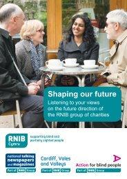 Shaping our future Cymru / Wales - English text (PDF, 1.56MB) - RNIB