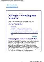 Strategies - Promoting peer interaction - RNIB