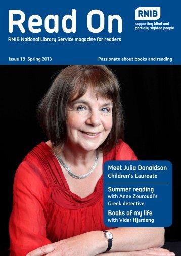 Meet Julia Donaldson Summer reading Books of my life - RNIB