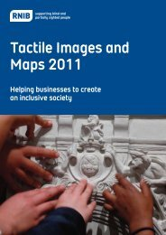 Tactile images and maps brochure - RNIB