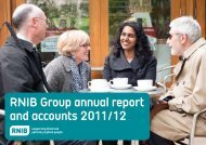 RNIB Group annual report and accounts 2011/12