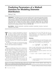 Predicting Parameters of a Weibull Function for Modeling Diameter ...