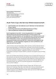 Audi Twin Cup: die Service-Weltmeisterschaft - Audi MediaServices