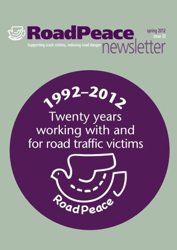 Spring 2012 (Issue 33) - RoadPeace