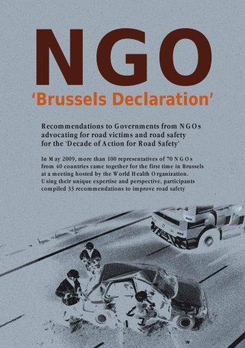'Brussels Declaration' - World Health Organization