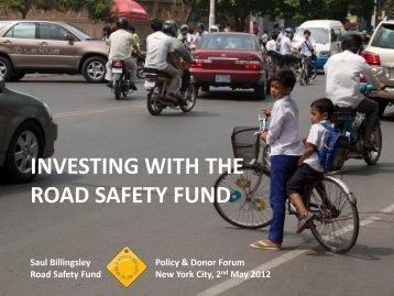 Saul Billingsley - Road Safety Fund