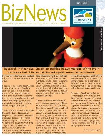 2ndDraft BizNews June 1 2012.indd - Roanoke