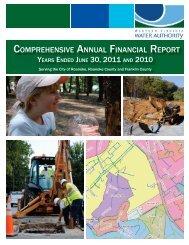 Comprehensive Annual Financial Report June 30, 2011 - Western ...