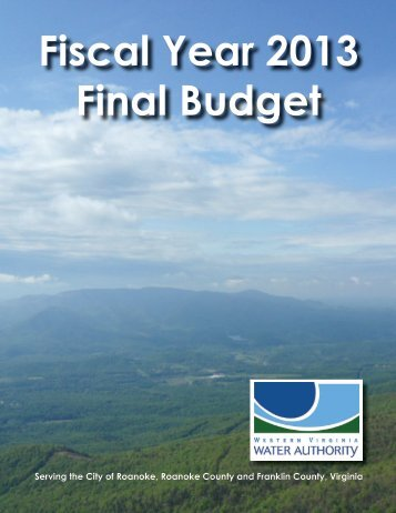 Fiscal Year 2013 Final Budget - Western Virginia Water Authority