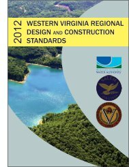 western virginia regional design and construction standards