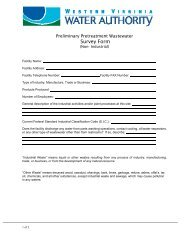 Preliminary Pretreatment Wastewater Survey Form