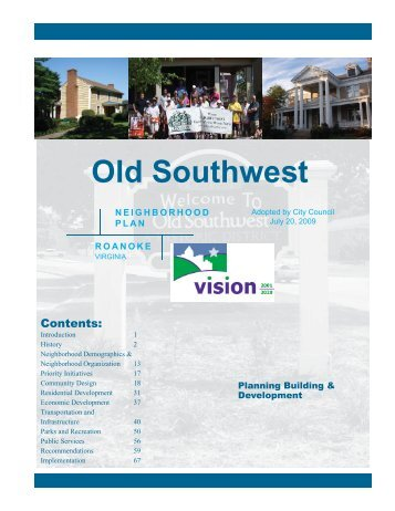 Old Southwest – Contents - Roanoke