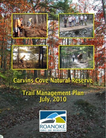 Carvins Cove Trail Plan - Roanoke