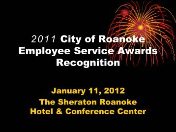 2011 City of Roanoke Employee Service Awards Recognition