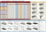 Natura Stone Surfaces Price List 2012/13