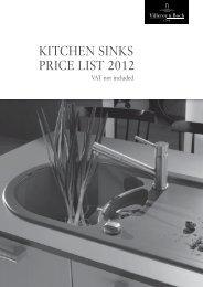 kitchen sinks price list 2012