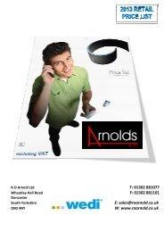 Wedi Retail Price List 2013 - RO Arnolds
