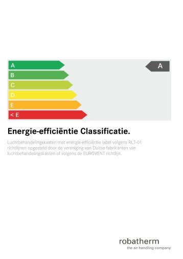 Energie-efficiėntie Classificatie. - robatherm