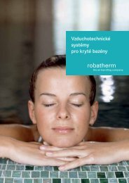 Vzduchotechnické systémy pro kryté bazény - robatherm