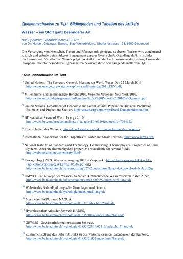 Quellennachweise zu Text, Bildlegenden und ... - Robe Verlag