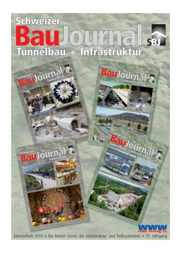 Tunnel- und Infrastrukturbau Jahresinhaltsverzeichnis ... - Robe Verlag