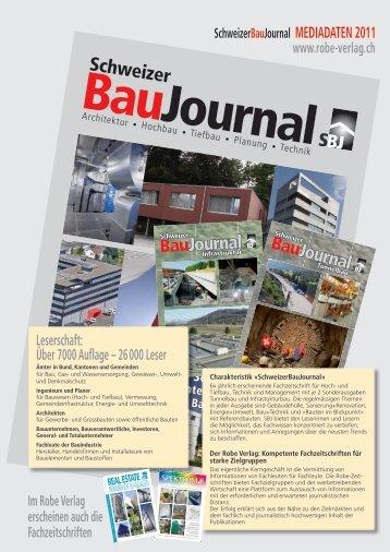 mediadaten 2011 - Robe Verlag