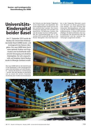Universitäts-Kinderspital beider Basel, 2011 - Robe Verlag