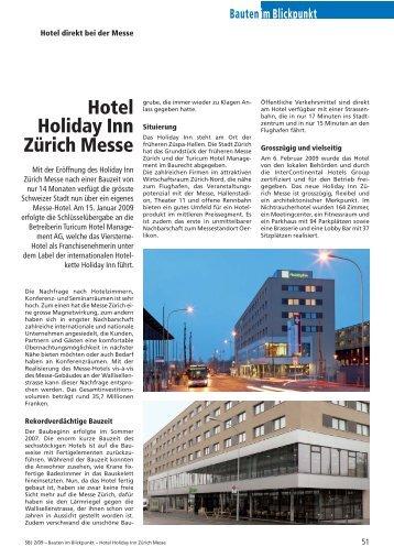 Hotel Holiday Inn Zürich Messe, 2009 - Robe Verlag