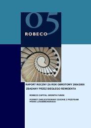 0341d10da56 raport roczny za rok obrotowy 2004/2005 zbadany ... - Robeco.com