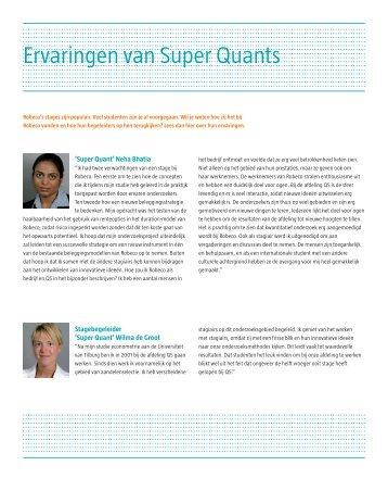 Ervaringen van Super Quants - Robeco.com