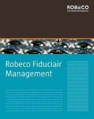 Robeco Fiduciair Management - Robeco.com