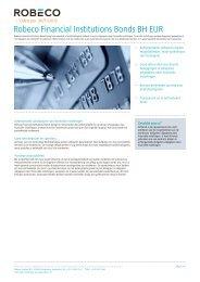 Robeco Financial Institutions Bonds BH EUR - Robeco.com