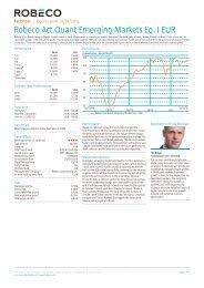 Robeco Act.Quant Emerging Markets Eq. I EUR - Robeco.com