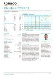 Robeco Lux-o-rente EH CHF - Robeco.com