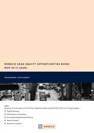 robeco sage equity opportunities bond nov 05/15 (eur) - Robeco.com