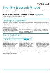Essentiële Beleggersinformatie - Robeco.com