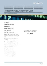 ROBECO PRIVATE EQUITY CERTIFICATE, EUR - Robeco.com