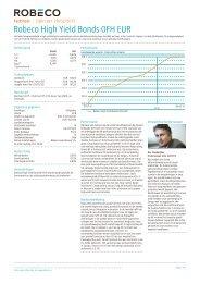 Robeco High Yield Bonds 0FH EUR - Robeco.com