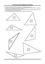 Kongruente (deckungsgleiche) Dreiecke 1 2 3 4 5 6 7